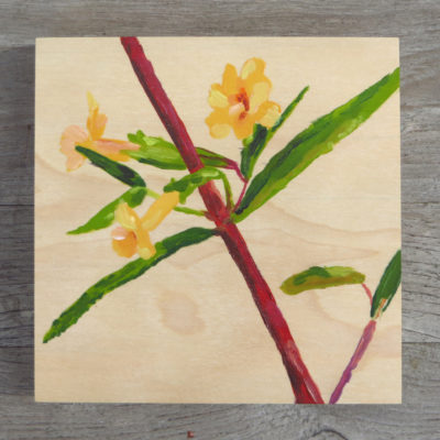 Sticky Monkey Flower Painting
