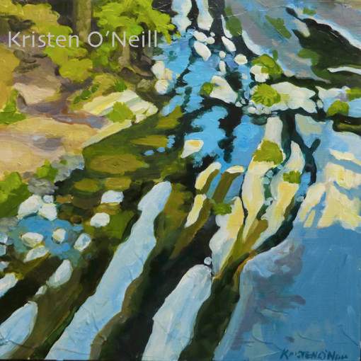 Painting of Little River at Wolf Creek Trailhead