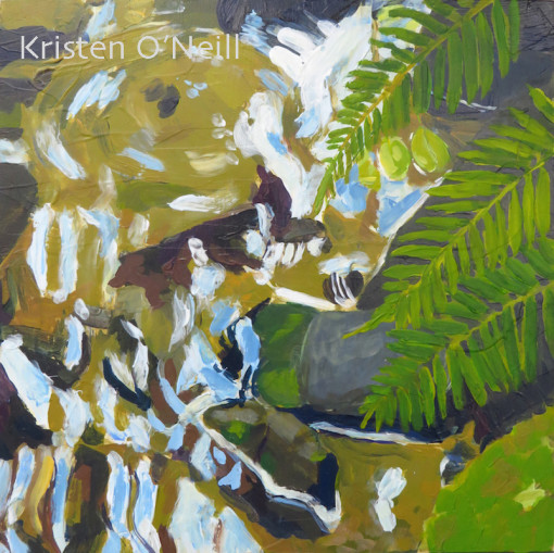 Painting of Ferns at Wolf Creek