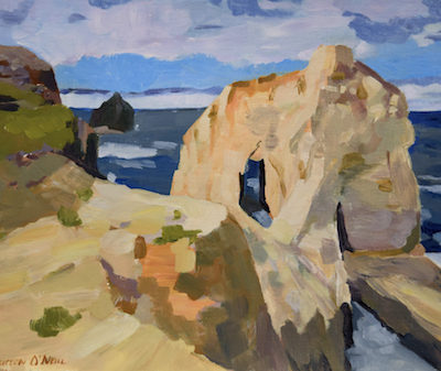 Kristen O'Neill painting of Cape Kiwanda