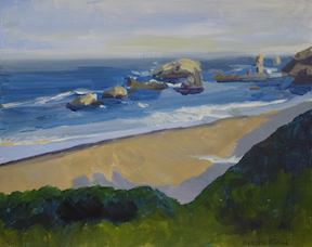 Brookings Beach painting