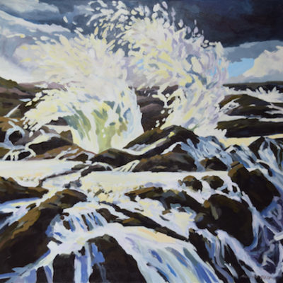 Kristen O'Neill waves crashing painting oregon