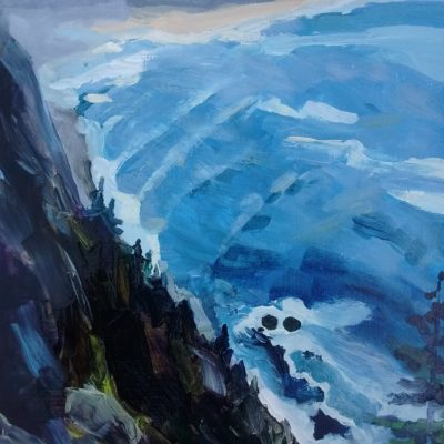 Ecola State Park Painting by Kristen O'Neill