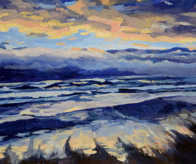 Sunset ocean painting oregon Coast