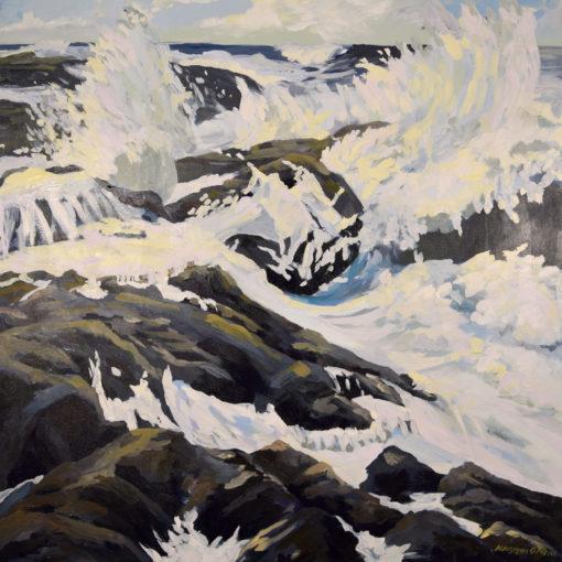 at the edge, painting Oregon Coast Trail