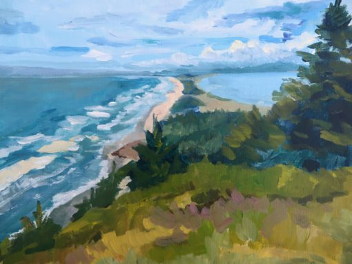 Cape Meares: Looking Toward Bayocean by Kristen O'Neill